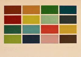 Colour set drawings, 1983 by Richard Bell